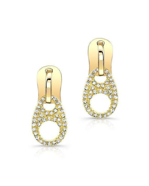 Anne Sisteron - Metallic 14kt Yellow Gold Diamond Zipper Earrings - Lyst