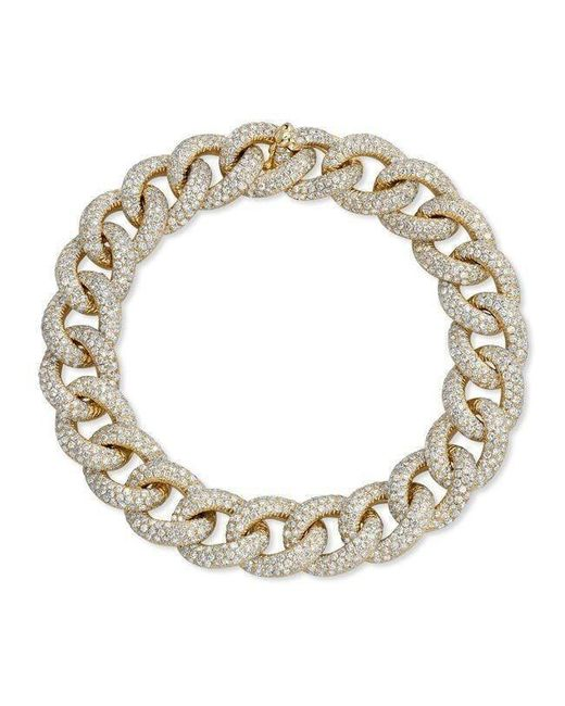 Anne Sisteron - Metallic 14kt Yellow Gold Diamond Luxe Chain Link Bracelet for Men - Lyst