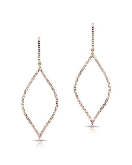 Anne Sisteron - Metallic 14kt Rose Gold Diamond Small Open Marquis Earrings - Lyst