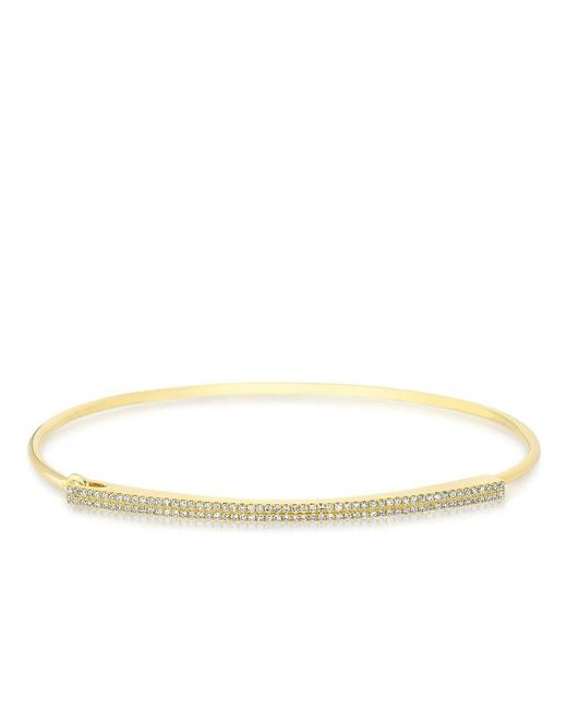 Anne Sisteron - Metallic 14kt Yellow Gold Diamond Double Bar Latch Bracelet - Lyst