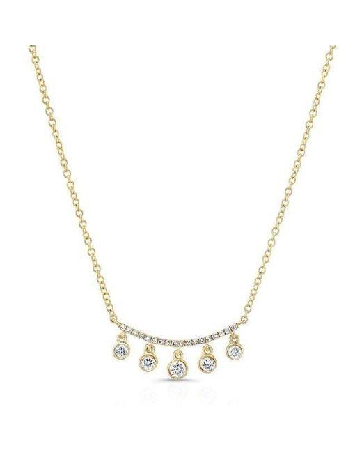 Anne Sisteron | Metallic 14kt Yellow Gold Diamond Spring Necklace | Lyst