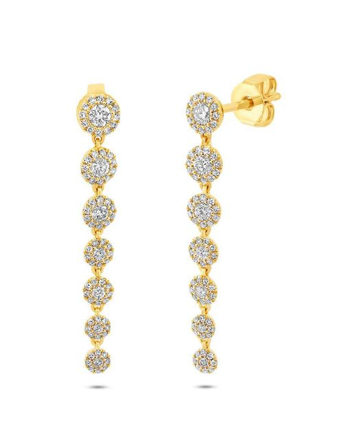 Anne Sisteron - Metallic 14kt Yellow Gold Diamond Francesca Earrings - Lyst