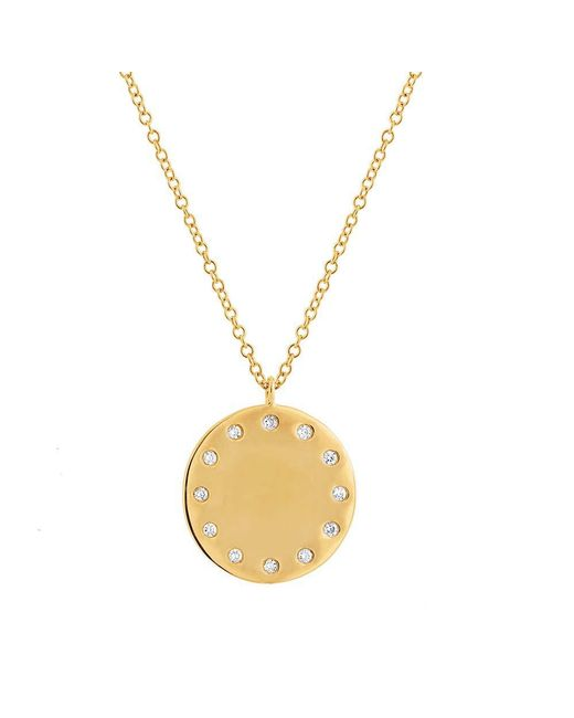 Anne Sisteron - Metallic 14kt Yellow Gold Diamond Stella Necklace - Lyst