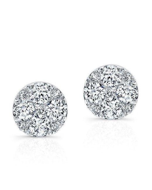 Anne Sisteron - Metallic 14kt White Gold Diamond Stud Earrings - Lyst
