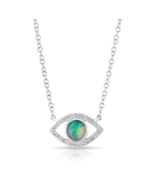 Anne Sisteron - Multicolor 14kt White Gold Diamond Open Opal Evil Eye Sukie Necklace - Lyst