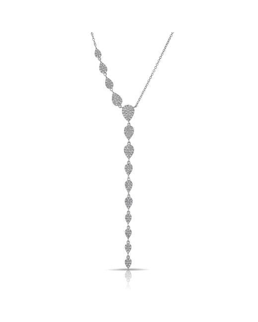 Anne Sisteron - Metallic 14kt White Gold Diamond Pear Droplets Flirt Lariat Necklace - Lyst