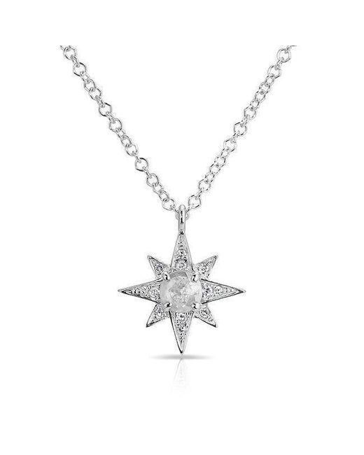 Anne Sisteron | Multicolor 14kt White Gold Diamond Triple Starburst Necklace | Lyst