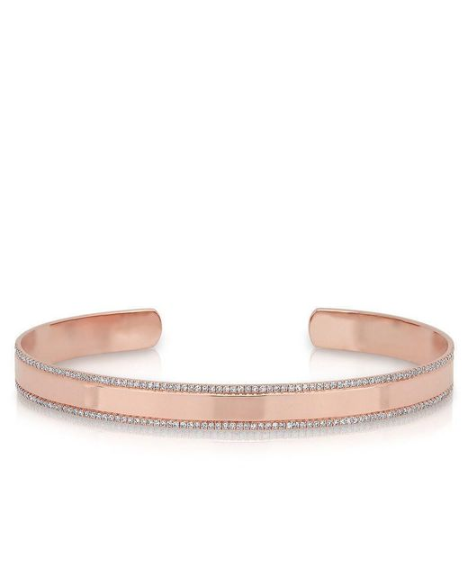Anne Sisteron - Multicolor 14kt Rose Gold Diamond Trimmed Cuff - Lyst