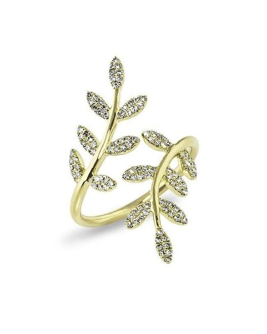Anne Sisteron - Metallic 14kt Yellow Gold Diamond Ivy Ring - Lyst