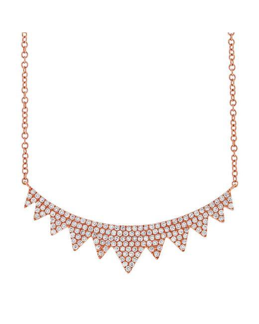 Anne Sisteron - Metallic 14kt Rose Gold Diamond Elizabeth Crown Necklace - Lyst