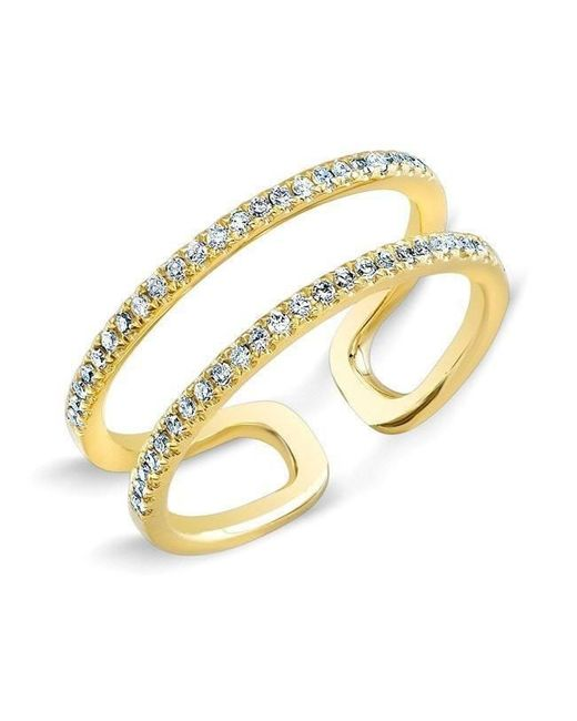 Anne Sisteron - Metallic 14kt Yellow Gold Diamond Double Bar Knuckle Ring - Lyst