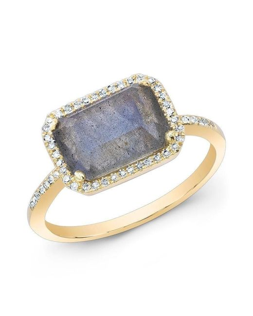 Anne Sisteron - Metallic 14kt Yellow Gold Labradorite Diamond Chic Ring - Lyst