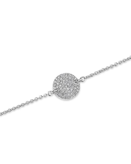 Anne Sisteron - Metallic 14kt White Gold Diamond Disc Chain Bracelet - Lyst