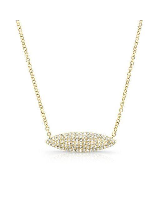 Anne Sisteron | Metallic 14kt Yellow Gold Diamond Alana Necklace | Lyst
