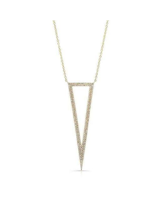 Anne Sisteron - Metallic 14kt Yellow Gold Diamond Open Triangle Necklace - Lyst