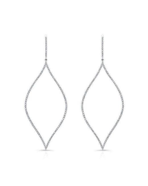 Anne Sisteron - 14kt White Gold Diamond Open Marquis Diamond Earrings - Lyst