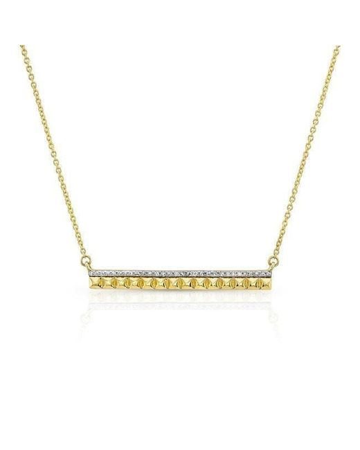 Anne Sisteron | Metallic 14kt Yellow Gold Diamond And Spike Bar Necklace | Lyst