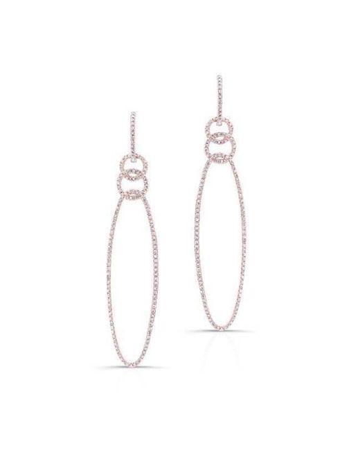 Anne Sisteron | Metallic 14kt Rose Gold Diamond Chain Link Oval Drop Earrings | Lyst