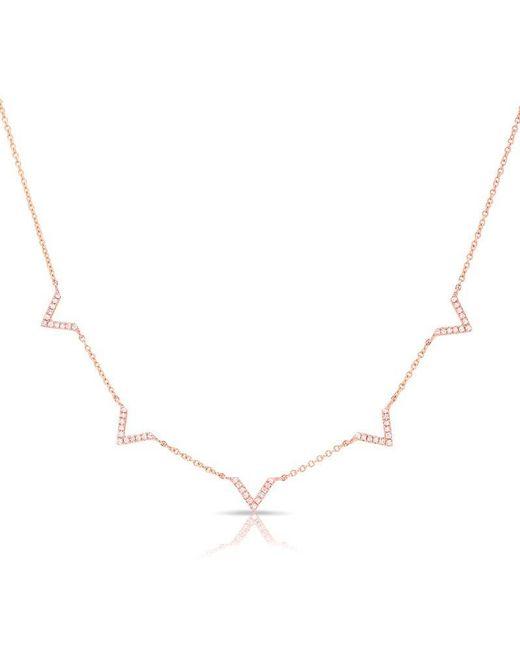 Anne Sisteron | Multicolor 14kt Rose Gold Diamond 5 Mini Chevrons Necklace | Lyst