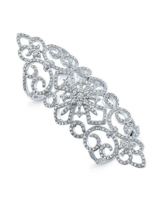 Anne Sisteron | Metallic 14kt White Gold Diamond Bourgeois Ring | Lyst
