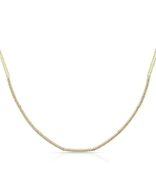Anne Sisteron | Metallic 14kt Yellow Gold Diamond Abby Choker Necklace | Lyst