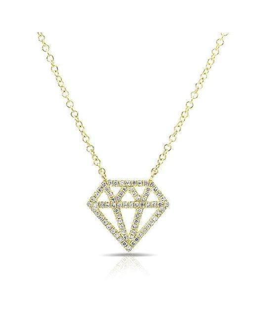 Anne Sisteron | Metallic 14kt Yellow Gold Diamond Bling Necklace | Lyst