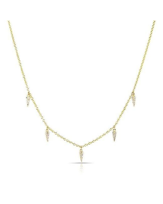 Anne Sisteron | Metallic 14kt Yellow Gold Diamond Sistine Spike Necklace | Lyst