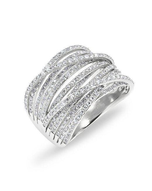 Anne Sisteron | Metallic 14kt White Gold Diamond Wire Ring | Lyst