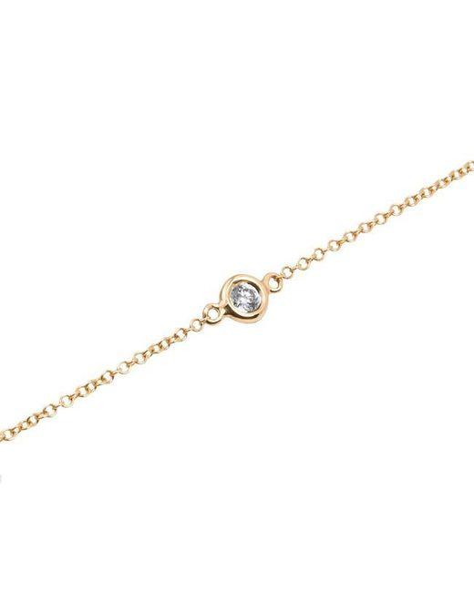 Anne Sisteron | Metallic 14kt Yellow Gold Diamond Solitaire Bracelet | Lyst