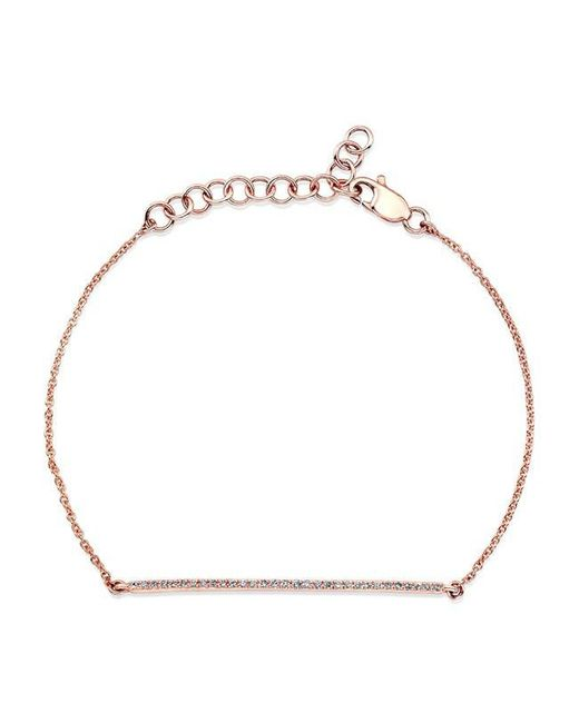 Anne Sisteron | Metallic 14kt Yellow Gold Diamond Bar Bracelet | Lyst