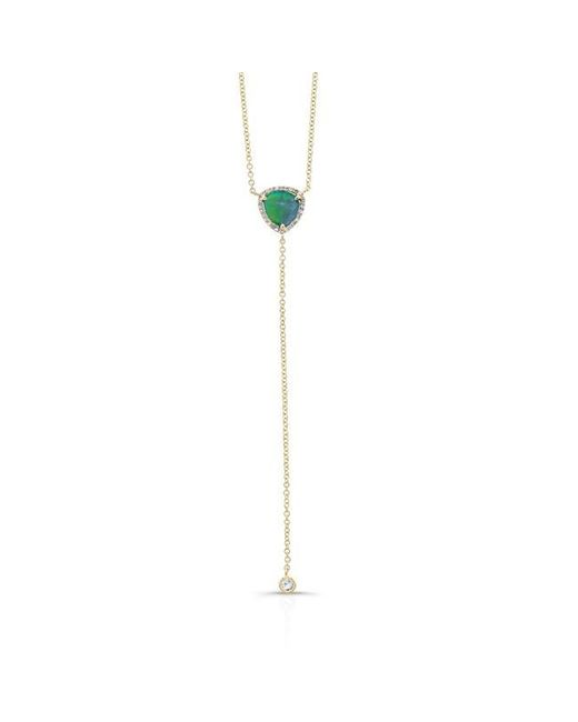 Anne Sisteron | Metallic 14kt Yellow Gold Diamond Opal Lariat Flirt Lariat Necklace | Lyst