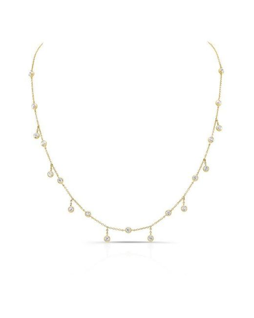 Anne Sisteron | Metallic 14kt Yellow Gold Diamond Bezel Set Trickle Necklace | Lyst