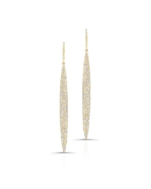 Anne Sisteron | 14kt Yellow Gold Diamond Long Stiletto Earrings | Lyst