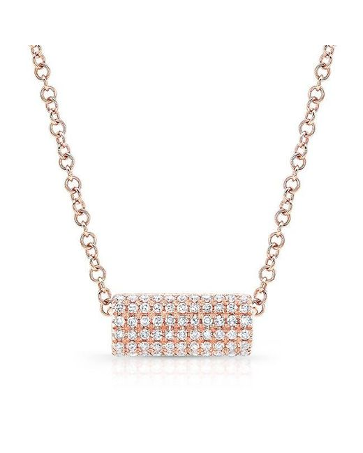 Anne Sisteron | Metallic 14kt Rose Gold Diamond Muffy Necklace | Lyst