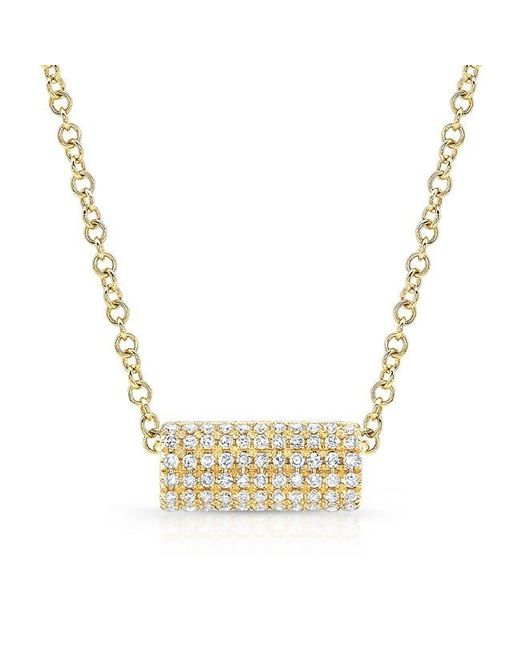 Anne Sisteron | Metallic 14kt Yellow Gold Diamond Muffy Necklace | Lyst