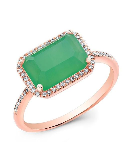 Anne Sisteron | Multicolor 14kt Rose Gold Chrysoprase Diamond Chic Ring | Lyst