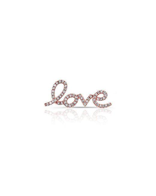 Anne Sisteron | Multicolor 14kt Rose Gold Diamond Love Ear Climber | Lyst