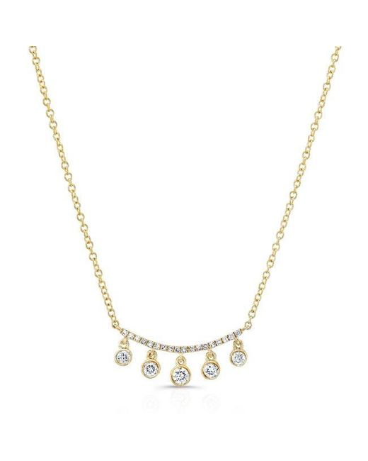 Anne Sisteron | Metallic 14kt Yellow Gold Diamond Spring Necklace | Lyst