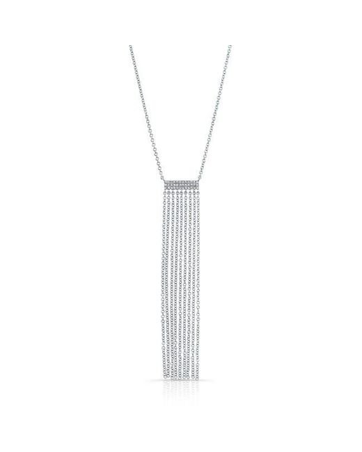 Anne Sisteron | Metallic 14kt White Gold Diamond Temptress Necklace | Lyst