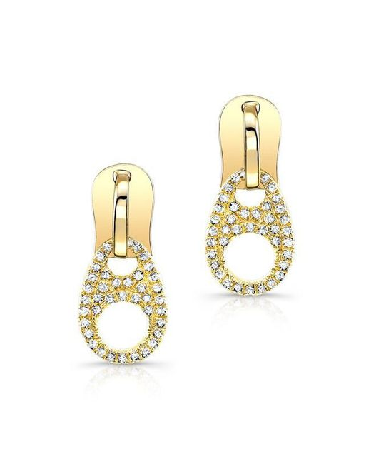 Anne Sisteron | Metallic 14kt Yellow Gold Diamond Zipper Earrings | Lyst