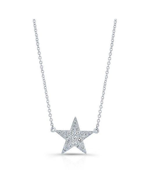 Anne Sisteron | Metallic 14kt White Gold Diamond Star Necklace | Lyst