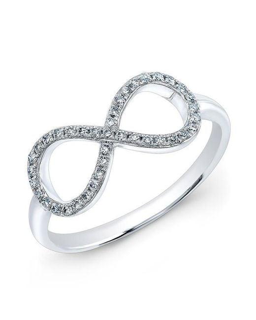 Anne Sisteron | Metallic 14kt White Gold Diamond Large Infinity Ring | Lyst