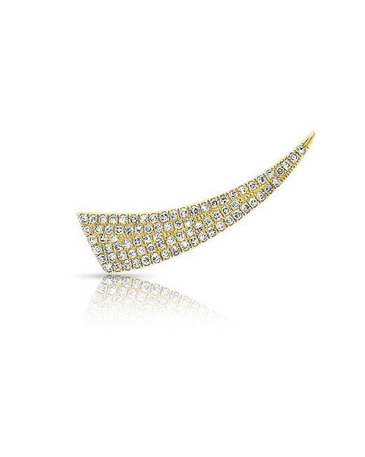 Anne Sisteron   Metallic 14kt Yellow Gold Diamond Horn Ear Climber   Lyst