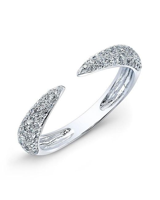 Anne Sisteron | Metallic 14kt White Gold Diamond Horn Ring | Lyst