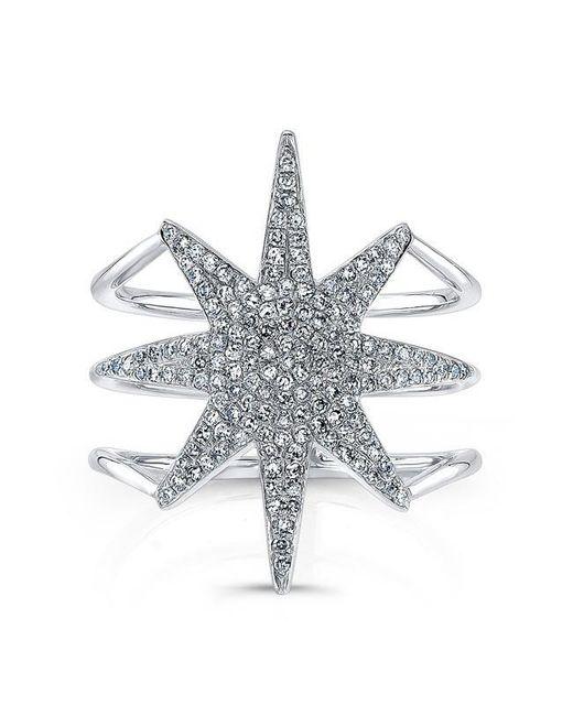 Anne Sisteron | Metallic 14kt White Gold Diamond Star Ring | Lyst
