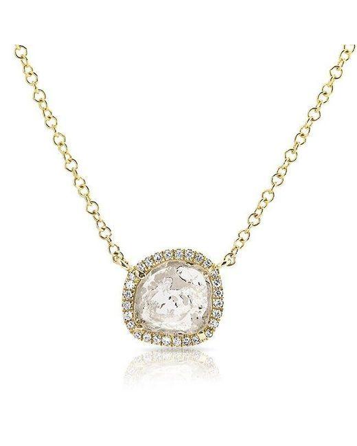 Anne Sisteron   Metallic 14kt Yellow Gold Diamond Slice Necklace   Lyst