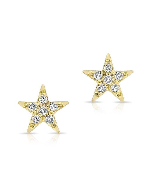 Anne Sisteron - Metallic 14kt Yellow Gold Diamond Bellatrix Star Stud Earrings - Lyst