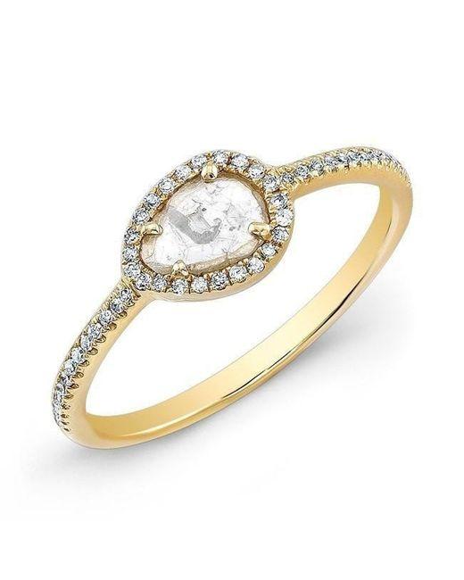 Anne Sisteron - White 14kt Yellow Gold Sasha Diamond Slice Ring - Lyst