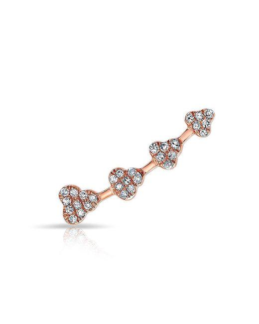 Anne Sisteron - Metallic 14kt Rose Gold Diamond Hearts Ear Climber - Lyst