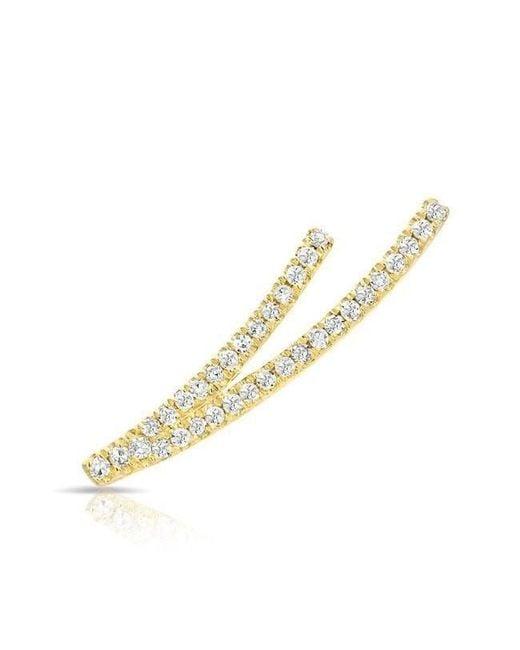 Anne Sisteron - Metallic 14kt Yellow Gold Diamond Velvet Ear Climber - Lyst